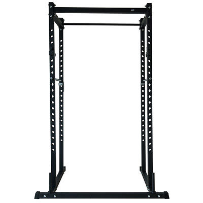 Power Rack Squat Lift Cage Deadlift Bench Racks Stand Cross Fit w/ Weight Holder