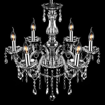 Buy Best Provincial Vintage Chandelier 6 Light Smoke Gray E12 Crystals Glass