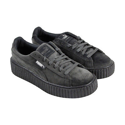 Buy Best Puma Womens Fenty by Rihanna Gray Creeper Velvet 36446603 Sneakers Shoes