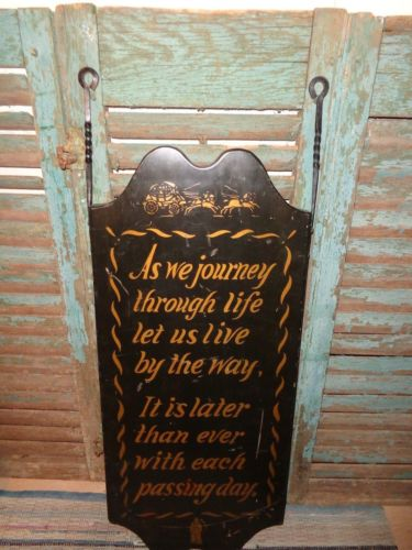 RARE ANTIQUE HITCHCOCK CHAIR SIGN WITH GRIM REAPER FROM NEW ENGLAND AAFA