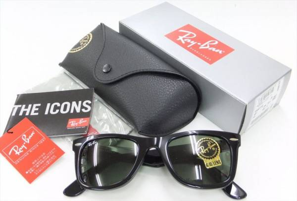 Buy Best RAY-BAN MEN'S LARGE ORIGINAL WAYFARER G-15XLT LENS BLACK RB2140 901/50 or 901/54