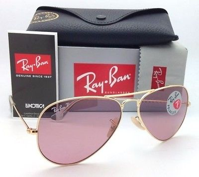 RAY-BAN WOMEN'S POLARIZED PINK LEGEND AVIATOR SUNGLASSES RB3025 001/15 58-14