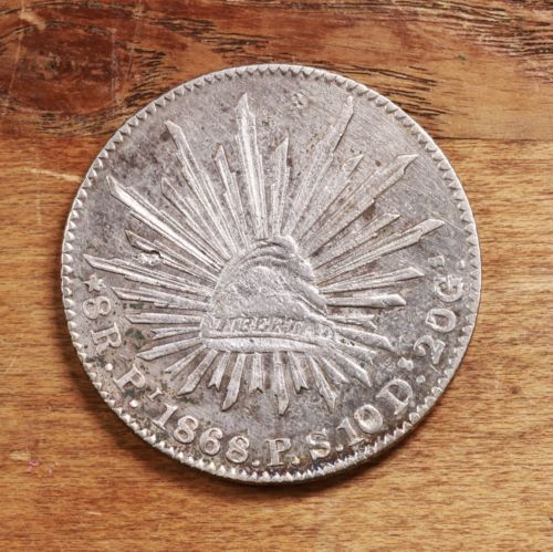 Buy Best Raw 1868 Mexico PS 8R Mexican Silver 8 Reales Coin