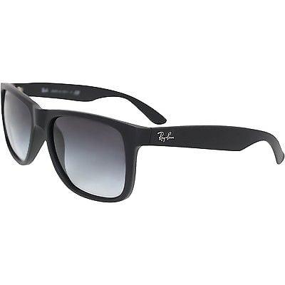 Buy Best Ray-Ban Men's Justin RB4165-601/8G-55 Black Wayfarer Sunglasses