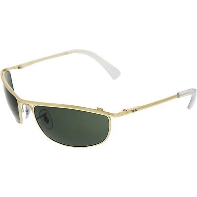 Buy Best Ray-Ban Men's Olympian RB3119-001-59 Gold Oval Sunglasses