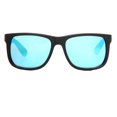 Buy Best Ray Ban RB 4165 622/55 54mm Justin Matte Black/Blue Mirror Square Sunglasses