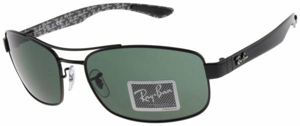 Ray-Ban Tech Carbon Fiber Sunglasses RB8316 002 62mm Green Classic G-15 Lens NIB