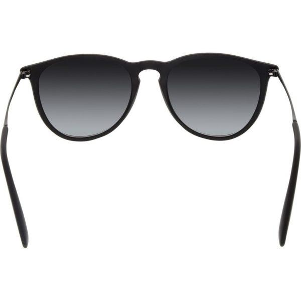 Ray-Ban Women's Gradient Erika RB4171-622/8G-54 Black Round Sunglasses
