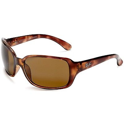 Buy Best Ray-Ban Women's Polarized Highstreet RB4068-642/57-60 Brown Wrap Sunglasses