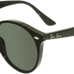 Ray-Ban Women's RB2180 RB2180-601/71-49 Black Round Sunglasses