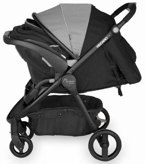 Buy Best Recaro Denali Marquis Stroller + Car Seat Granite Black Frame Travel System New!