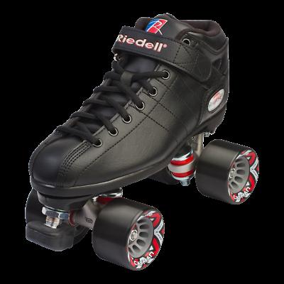 Riedell - BLACK R3 Speed roller skates -  PowerDyne Thrust - Sonar Cayman