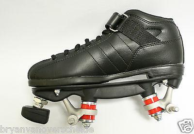 Riedell - BLACK R3 quad skates - PowerDyne Thrust - Kwik bearing with out wheels