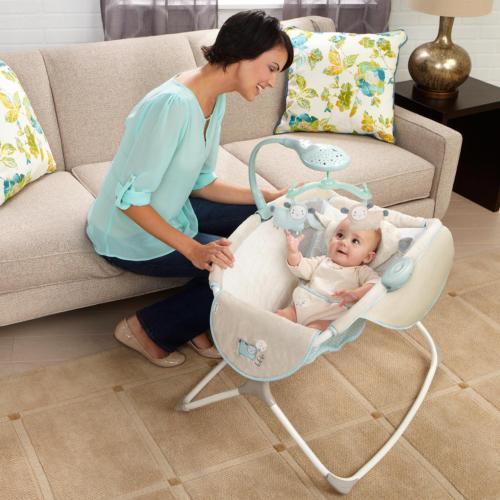 Rocking Baby Sleeper Bassinet Cradle Newborn Infant Crib Bed
