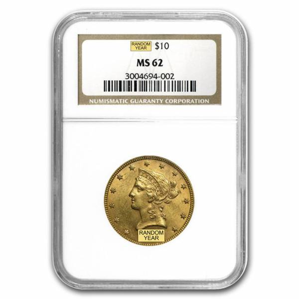 Buy Best SPECIAL PRICE! $10 Liberty Gold Eagle MS-62 NGC/ PCGS (Random) - SKU #159538