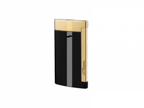 Buy Best S.T. Dupont Slim 7 Lighter, Black Lacquer Gold Accents 27708 (027708) New In Box