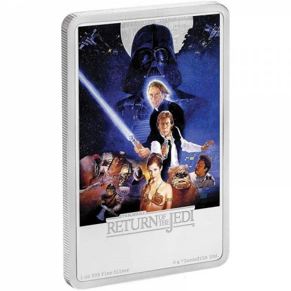 Buy Best STAR WARS - RETURN OF THE JEDI - POSTER - 2017 1 oz Pure Silver Coin NZ MINT