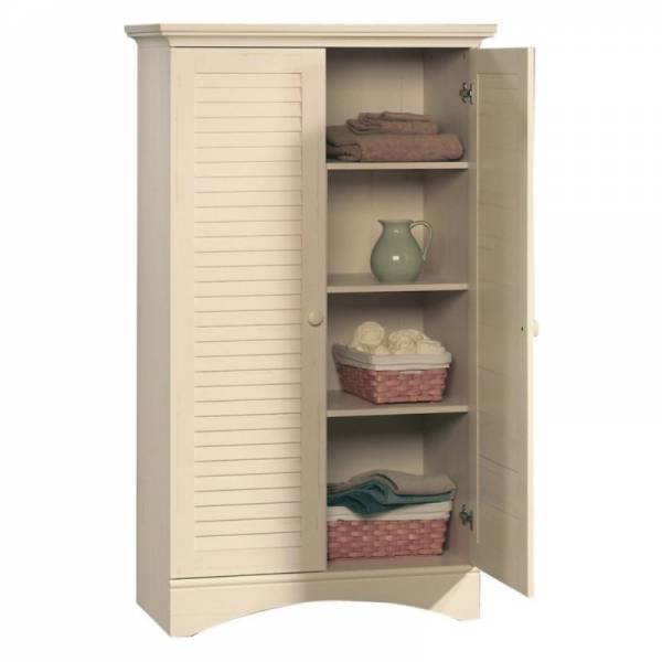 Buy Best Sauder Harbor View Storage Cabinet - Antiqued White, White
