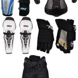 Senior SR Ice Hockey Protective Gear Kit Set Adult Equipment Package New