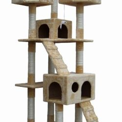 Buy Best Shop4Omni 72 Inch Beige Cat Tree Lounge Tower Kitty Condo with Scratching Posts