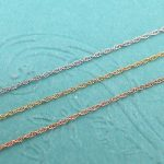 "Solid 14k Yellow, White or Rose Gold Delicate Rope Chain-13"" 15"" 16"" 18"" 20"" 22"""