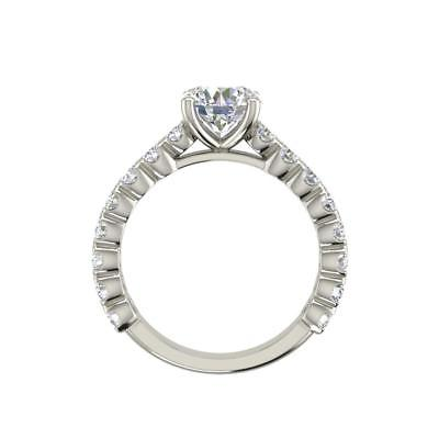Solitaire 1.45 Carat SI1/F Round Cut Diamond Engagement Ring White Gold