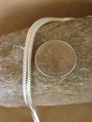 """Southwestern Jewelry Sterling Silver Snake Chain Necklace 18"""" Long x 1/4"""""""