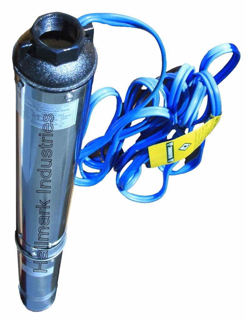 """Buy Best Submersible Pump, 4"""" Deep Well, 1 HP, 220V, 33 GPM, 207 ft Max, long life"""