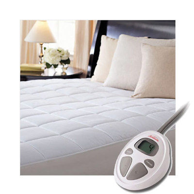 Buy Best Sunbeam CC7 Premium Luxury Quilted Electric Heated Mattress Pad