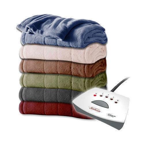 Sunbeam Fleece Electric Heated Blanket King Queen Full Twin ASSORTED Colors NEW