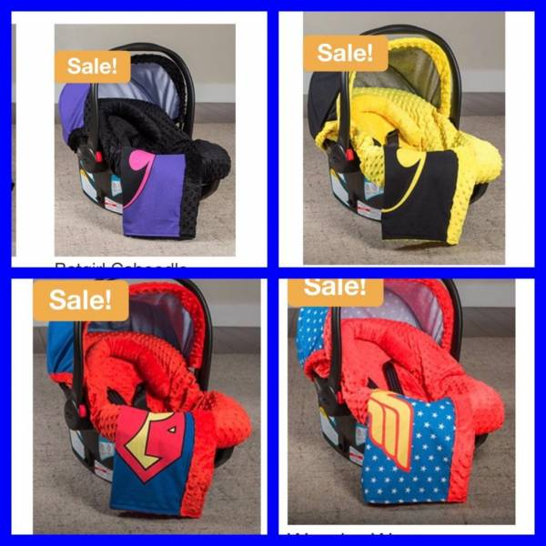 Buy Best Superheroes Whole Caboodle Carseat Canopy 5 piece Set Baby Infant Car Seat