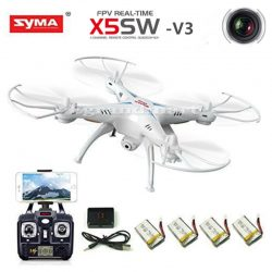 Buy Best Syma X5SW-V3 Wifi FPV RC Drone Quadcopter 2.4Ghz 6-Axis Gyro with Headless Mode