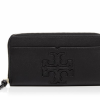 Buy Best TWO LEFT NWT Tory Burch Harper Leather Continental Wallet Zip Clutch Black $195