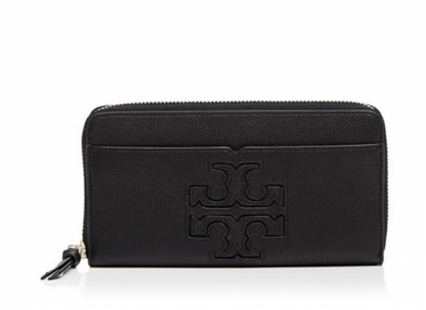 TWO LEFT NWT Tory Burch Harper Leather Continental Wallet Zip Clutch Black $195