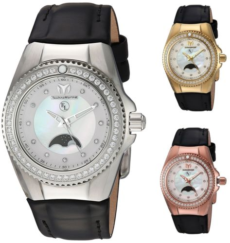 Technomarine Women's Eva Longoria Moonphase 34mm Watch - Choice of Color