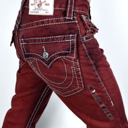 Buy Best True Religion $222 Men's Hand Picked Colored Straight Big T Jeans - MNRS859EIC