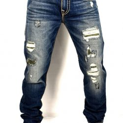 Buy Best True Religion Men's Geno Distressing Repaired Slim Super T Jeans - ME08NYL7
