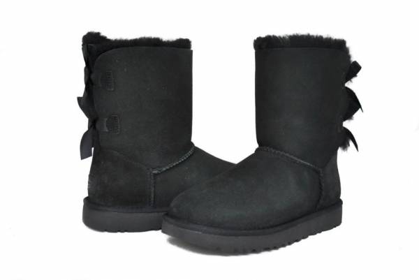 UGG Australia Women's Bailey Bow 2 II Boots 1016225 Black Chestnut Grey Sz 5-11