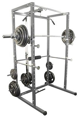 Valor Fitness BD-7 Power Rack with Lat Pull Attachment, Solid Steel Construction