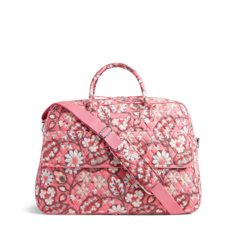 Vera Bradley Trimmed Grand Traveler Travel Duffel Bag - Blush Pink