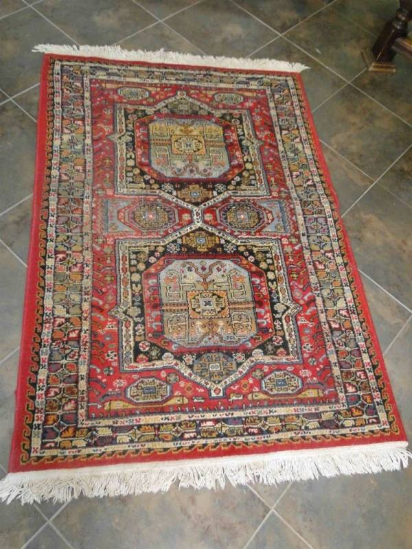 "Buy Best Vintage Rug Runner Carpet Hand Knotted Persian Geometric 2'3"" wide 10'3"" long"