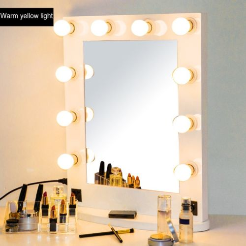 Buy Best White Vanity Lighted Hollywood Makeup Mirror Stage Beauty Mirror +Lighted Dimmer