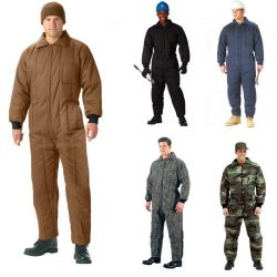 Winter Insulated Coveralls 1 Piece Suit Mechanic SnowMobile Cold Weather Hunting