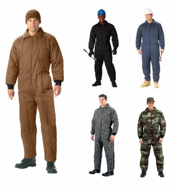 Buy Best Winter Insulated Coveralls 1 Piece Suit Mechanic SnowMobile Cold Weather Hunting