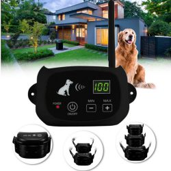 Wireless Electric Pet Fence Containment 1~4 Dog System Transmitter Waterproof