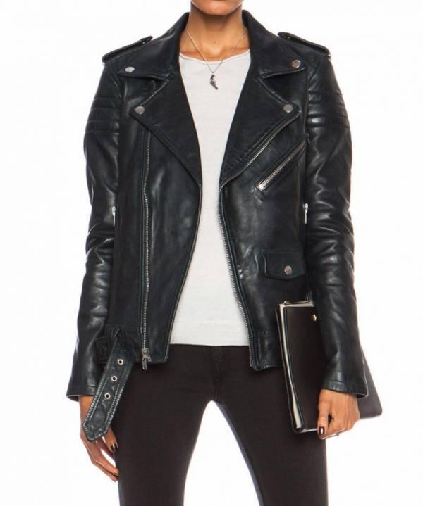 Buy Best Women Leather Jacket Black Slim Fit Biker Motorcycle lambskin Size S M L XL XXL