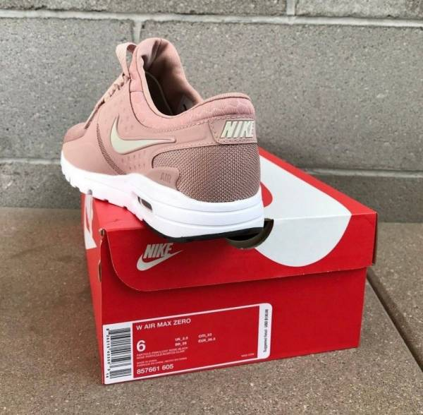 Women's Nike Air Max Zero Particle Pink/Bone-Black Sizes 6.5-9 -857661-605