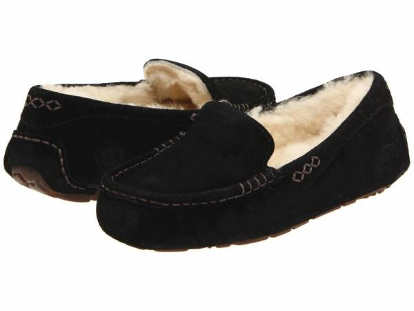 Women's Shoes UGG Ansley Moccasin Slippers 3312 Black 5 6 7 8 9 10 11 *New*