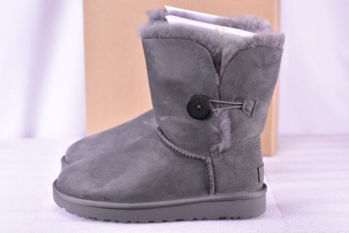 Buy Best Women's Ugg  1016226W/GREY Bailey Button II Boots Grey  7