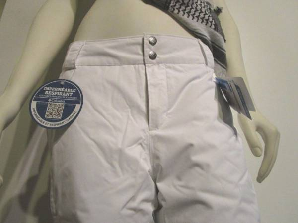 Womens XS-S-M-L Columbia Arctic Trip Insulated Waterproof Snow Ski Pants White